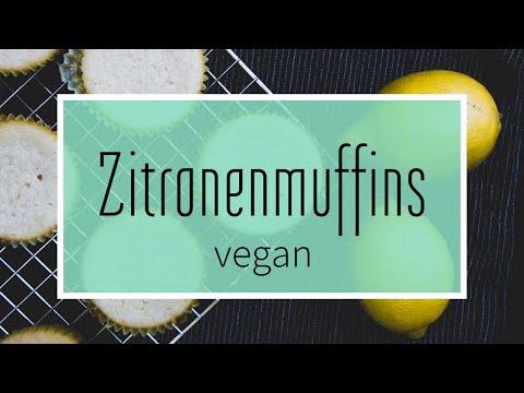 Vegane Zitronenmuffins: Fruchtig frisch & mit echter Zitrone