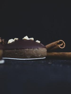 Vegane Lebkuchen mit Schokoladenglasur