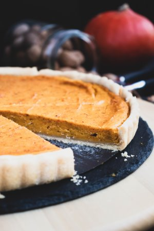 Pumpkin Pie mit Mürbteig vegan