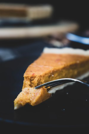 Stück vegane Pumpkin Pie